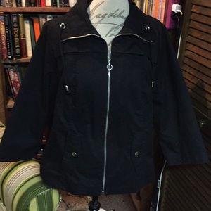 Studio Works Woman Size 1X Black Jacket